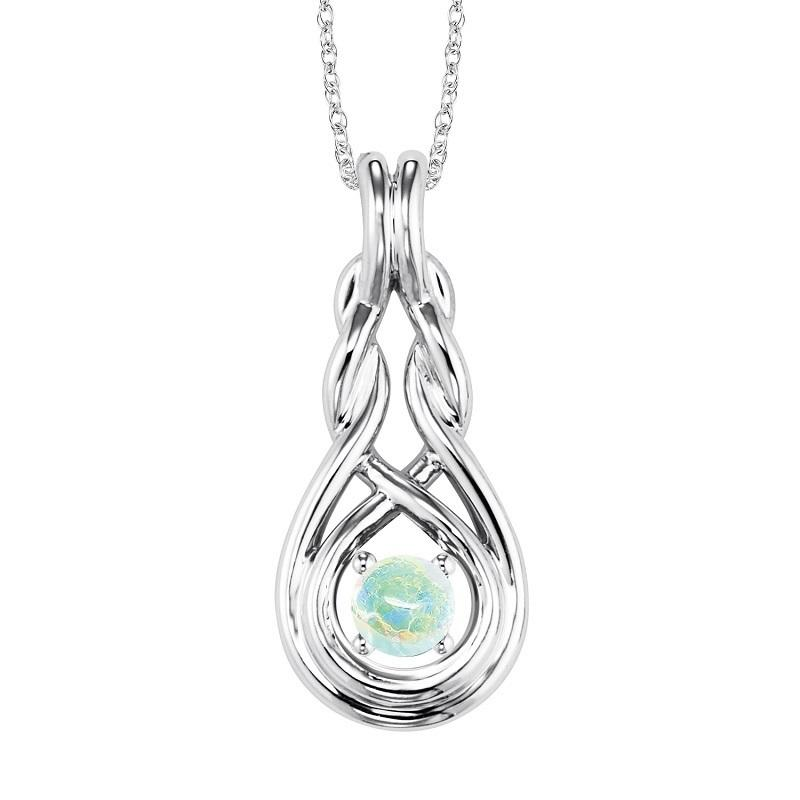 Silver Opal Pendant ( Available in All Birthstone )
