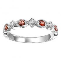 14K Garnet & Diamond Mixable Ring