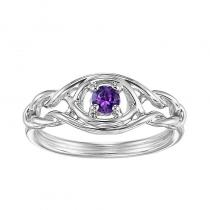 Silver Amethyst Ring (Available In all BirthStones)