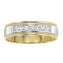 14K Diamond Men's Band 1/4 ctw