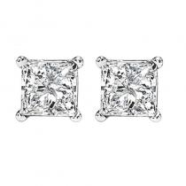 14K P/Cut Diamond Studs 1 1/2 ctw P2