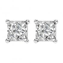 14K P/Cut Diamond Studs 2 ctw P3