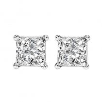 14K P/Cut Diamond Studs 1 1/5 ctw P1