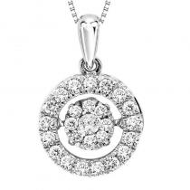 10KW Diamond Rhythm Of Love Pendant 1/2 ctw