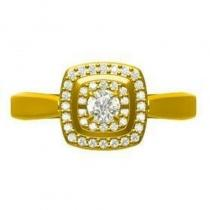 14K Diamond Rhythm Of Love Ring 1/5 ctw