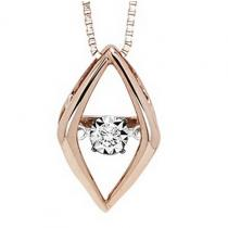 10K Diamond Rhythm Of Love Pendant