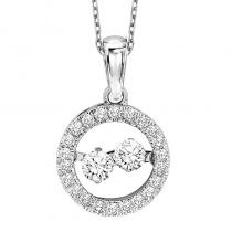 10K Diamond Rhythm Of Love Pendant 1/3 ctw