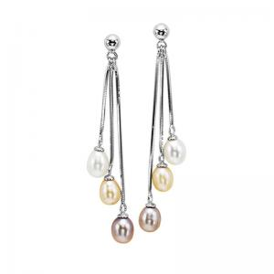 Silver Fresh Water Pearl Earrings