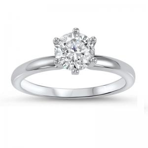 14K Diamond Solitaire Ring 3/4 ct