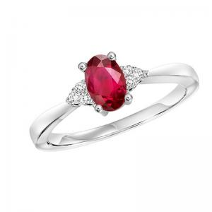 10K Ruby & Daimond Ring