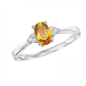 10K Citrine & Diamond Ring