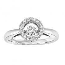 10K Diamond Rhythm Of Love Ring 1/4 ctw